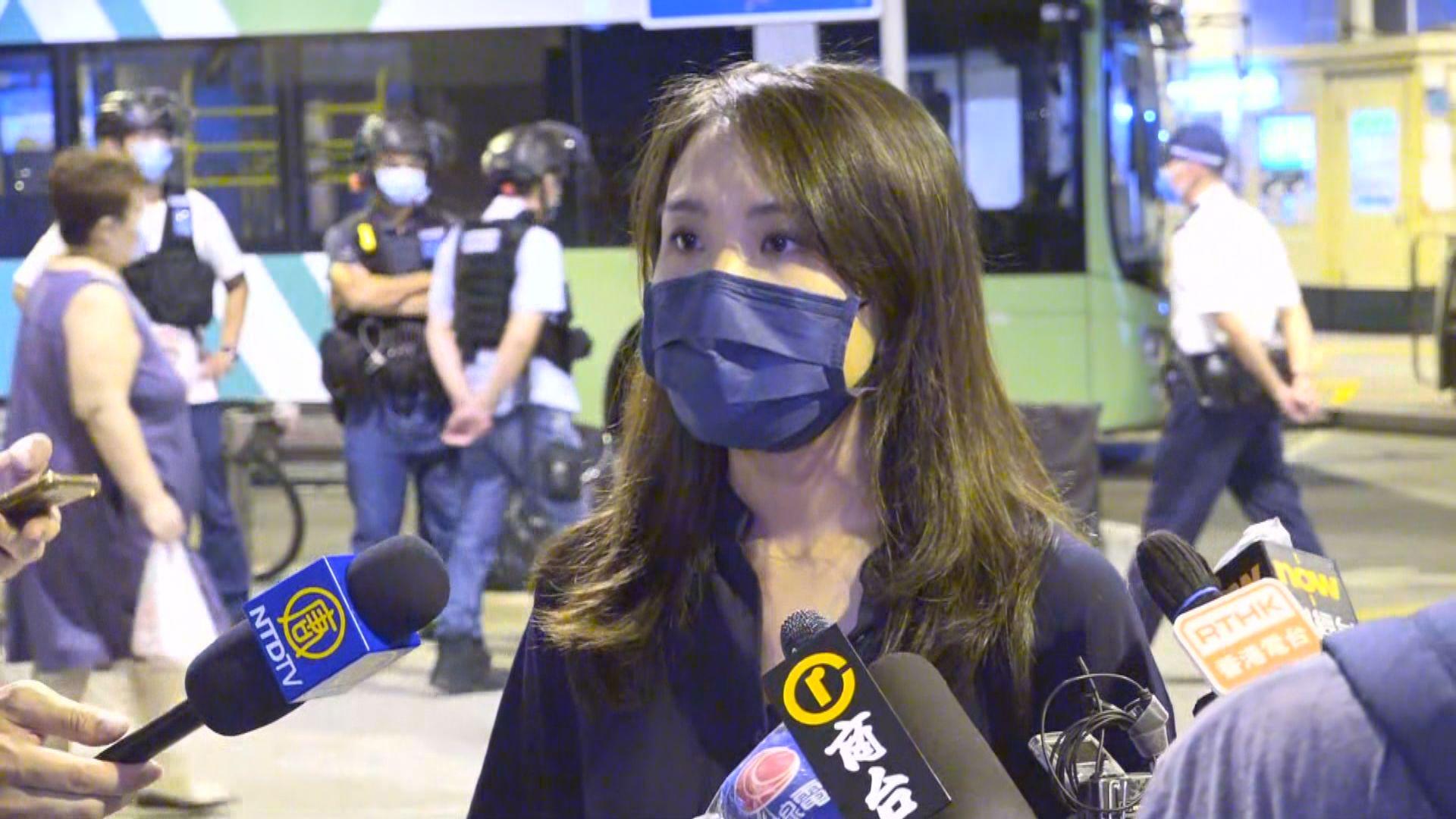 何桂藍︰有拍攝721當晚不同人士情況
