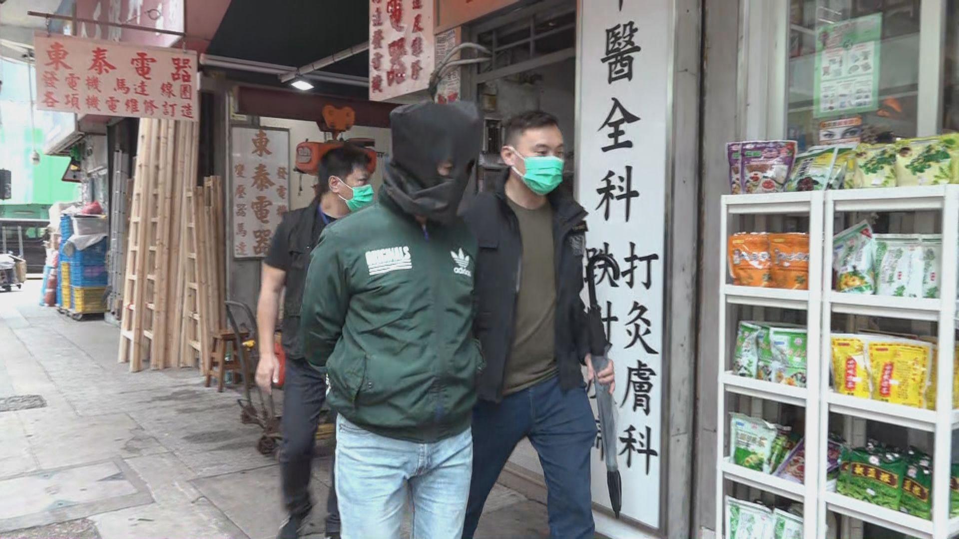 警拘一男涉旺角與大埔19宗竊案