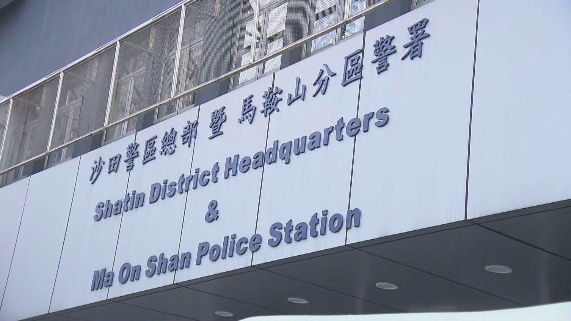 被捕新港城中心保安在馬鞍山警署扣查