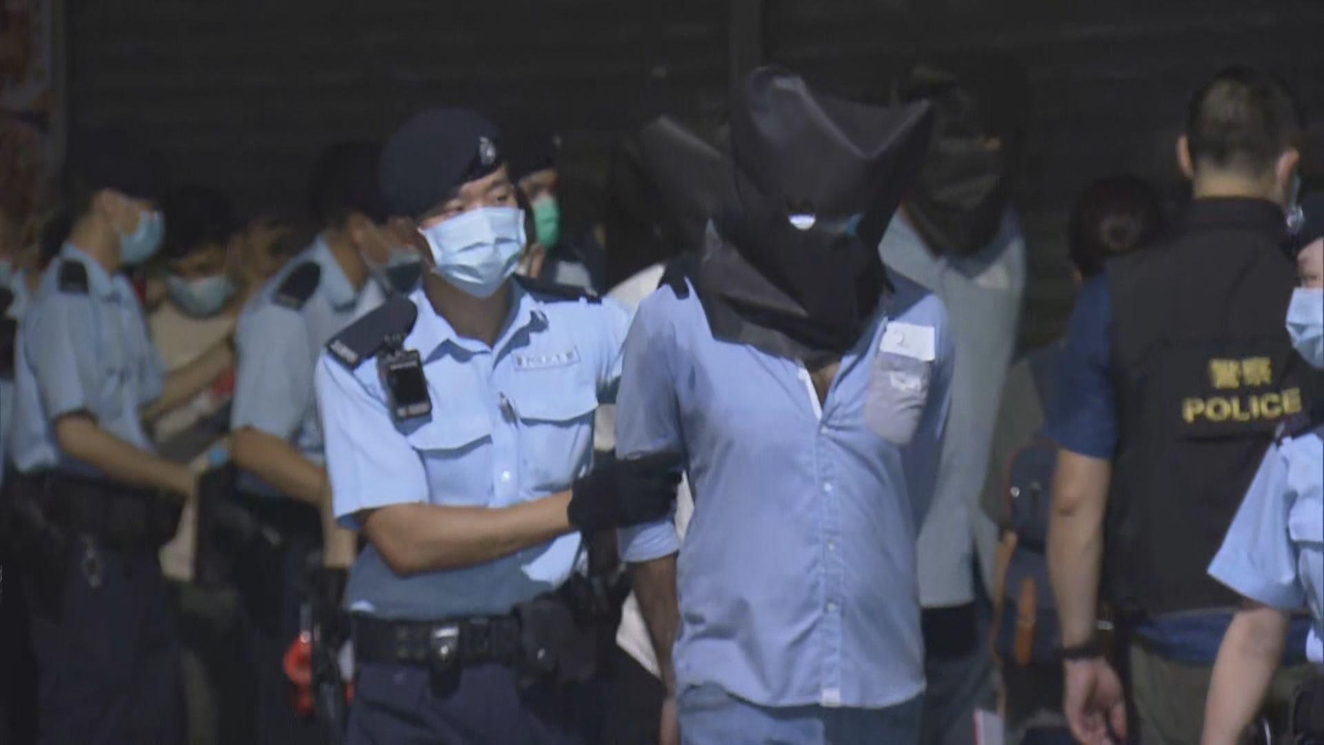警方破荃灣區黑幫龐大賭場拘150人