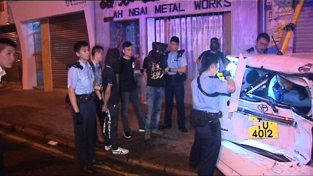 警旺角截停可疑車輛拘兩人檢獲毒品