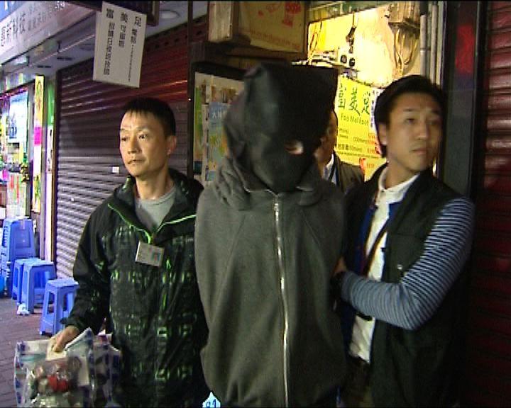 警旺角拘一男涉偷過百手表