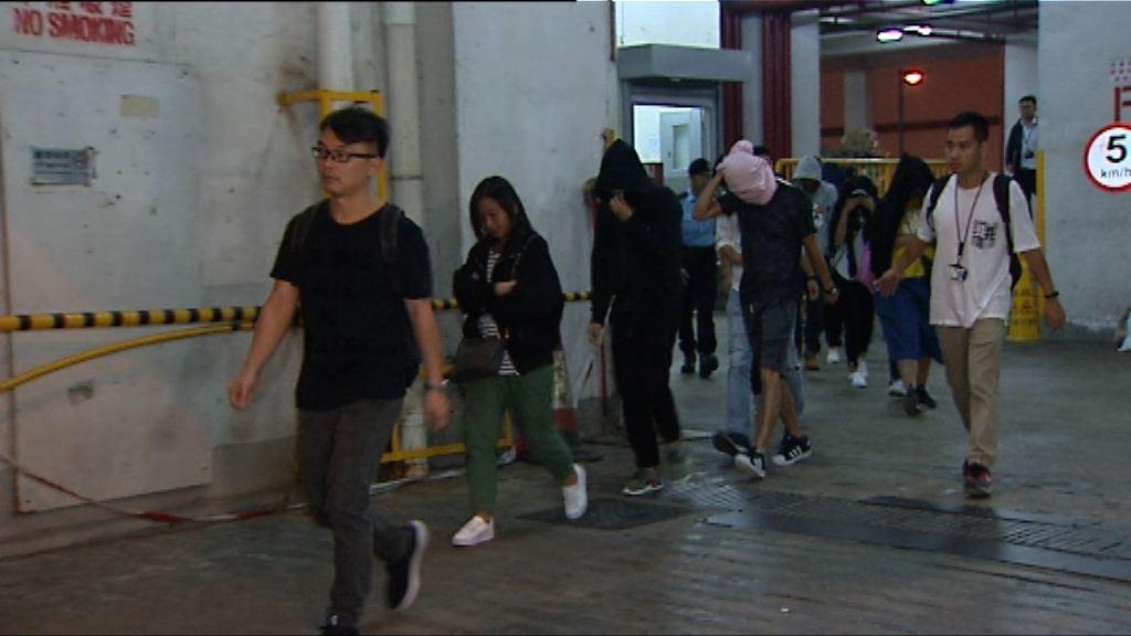 警方屯門打擊三合會拘逾百人