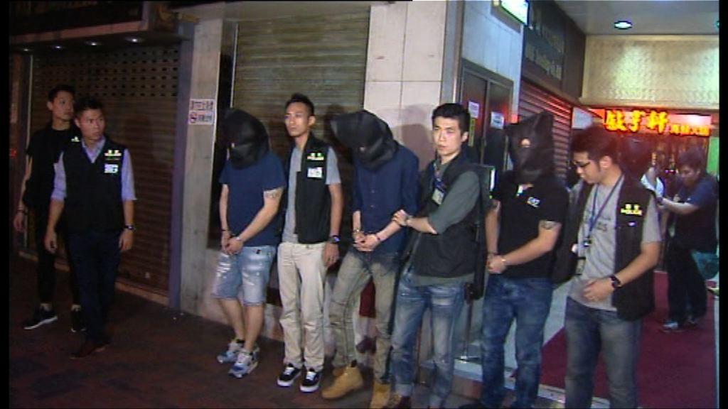 警方油尖破賭檔及販毒案拘9人