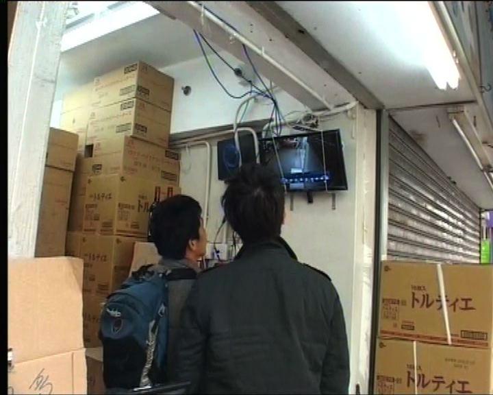 水貨店舖被縱火警方翻查閉路電視