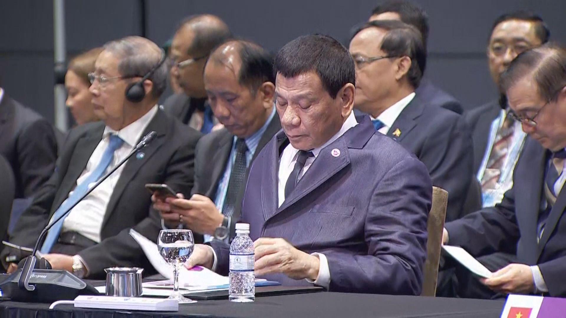 杜特爾特:東盟有必要落實南海行為準則