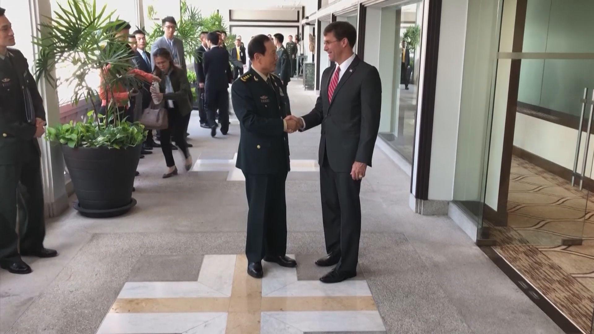 中美防長在泰國會晤 談及香港問題