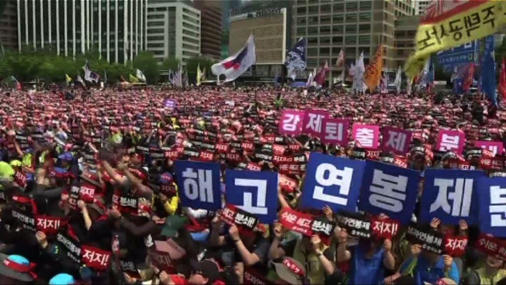 亞洲多地民眾參與勞動節遊行集會