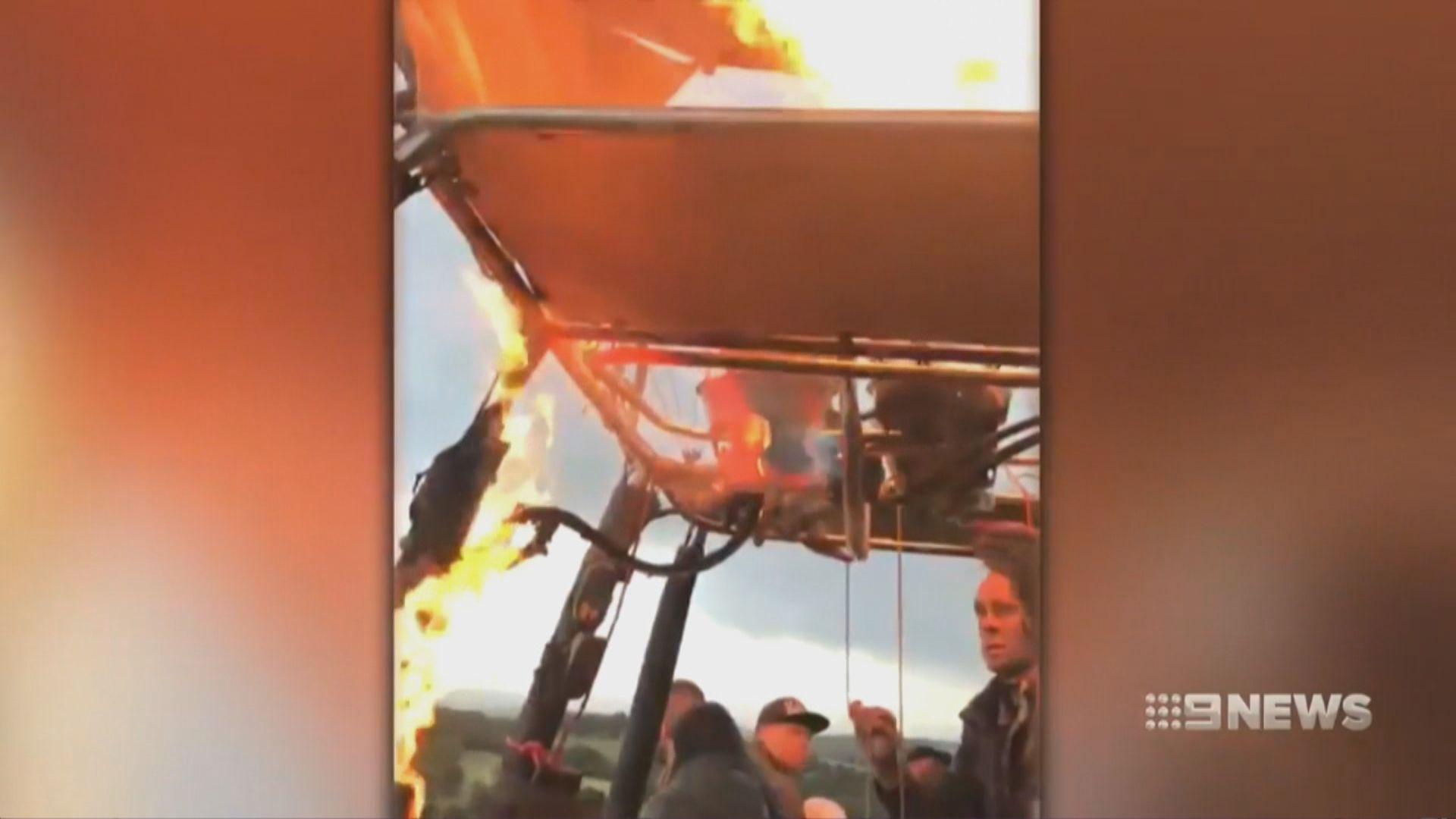 澳洲熱氣球飛行期間起火 一人傷