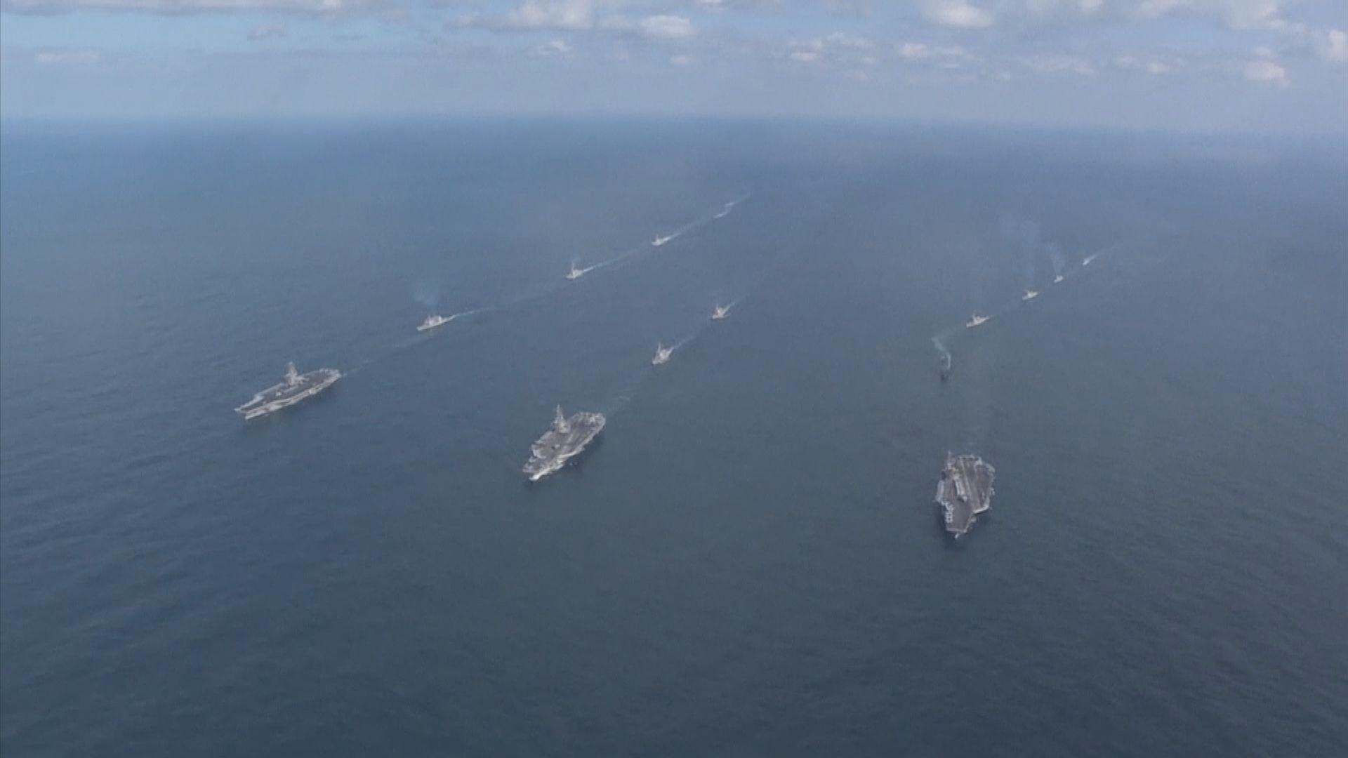 美澳日韓在澳洲海上聯合軍演