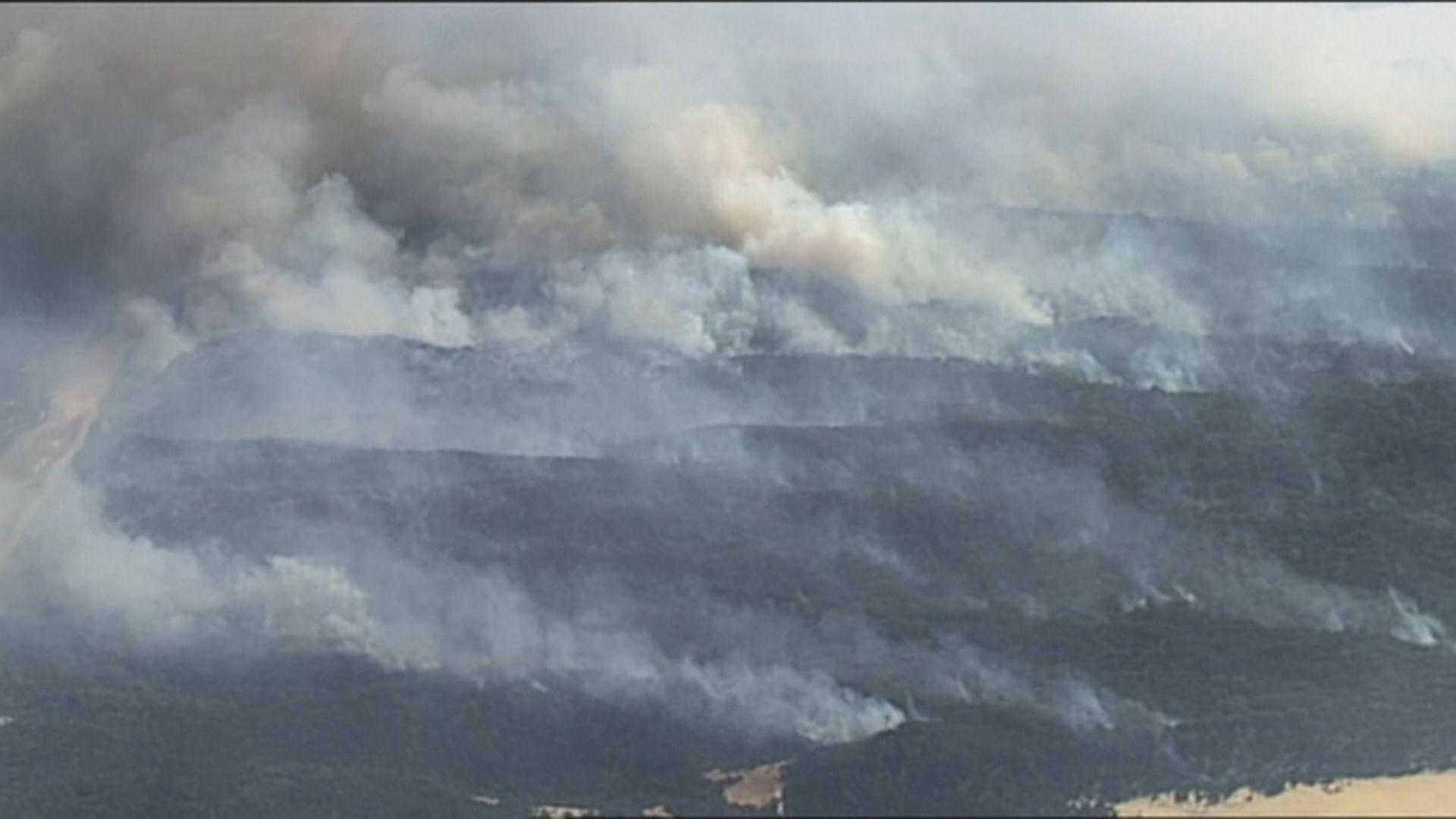 澳洲弗雷澤島山火達緊急警戒級別