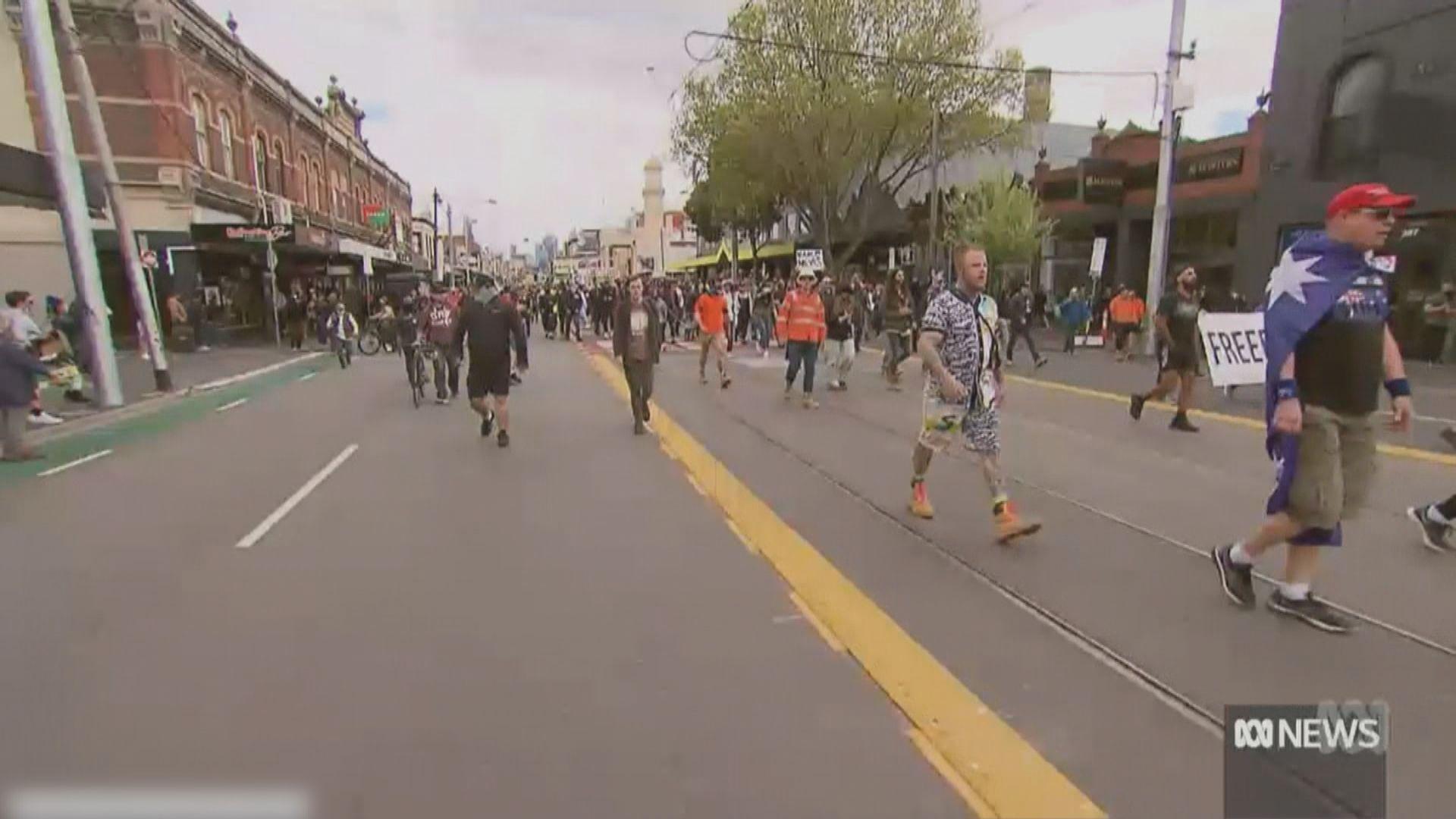 澳洲墨爾本及悉尼有反封城示威