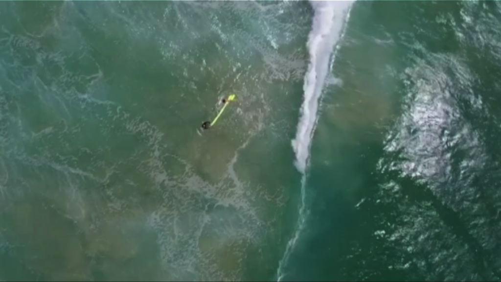 無人機助救起澳洲兩遇溺青年