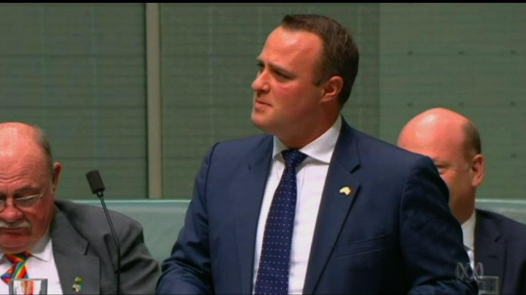 澳洲議員辯論同性婚姻期間求婚