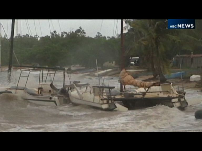 澳洲北部遭熱帶氣旋吹襲