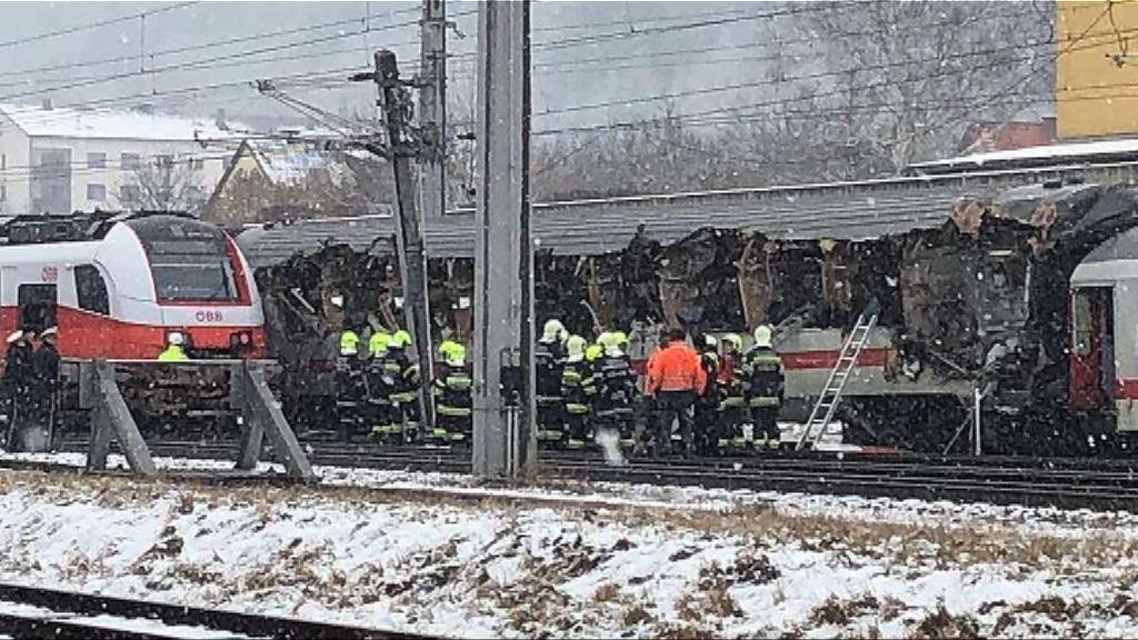 奧地利有火車相撞多人死傷