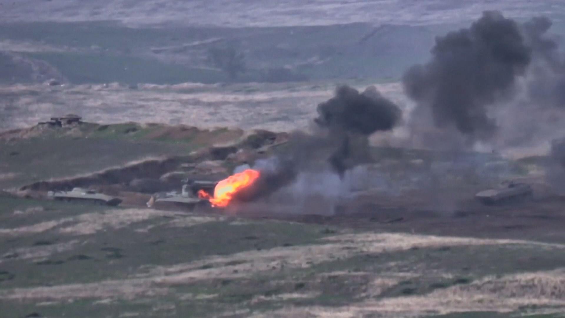 亞美尼亞和阿塞拜疆爆發軍事衝突 至少18死逾百傷