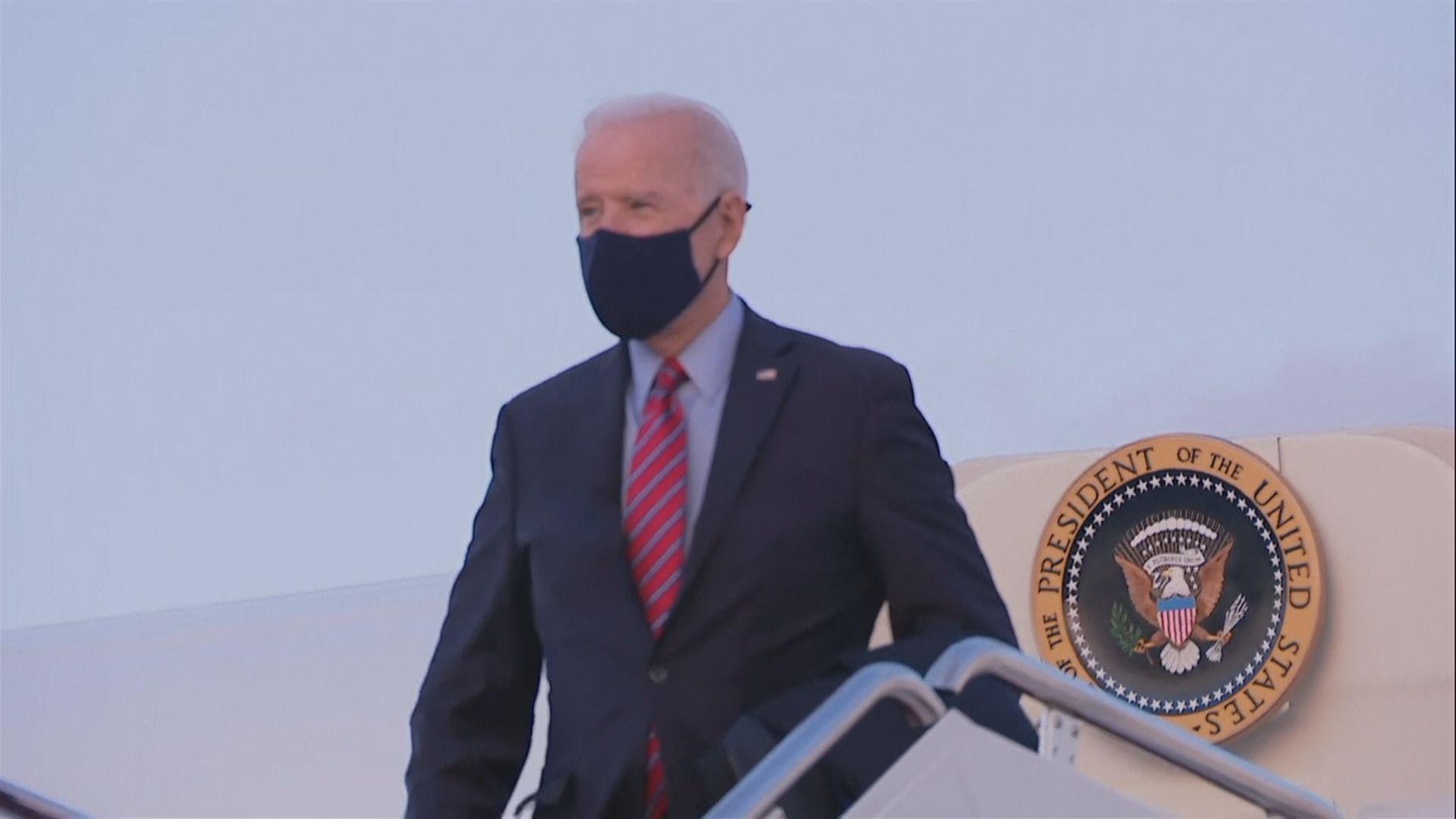 拜登首度以總統身份乘搭空軍一號