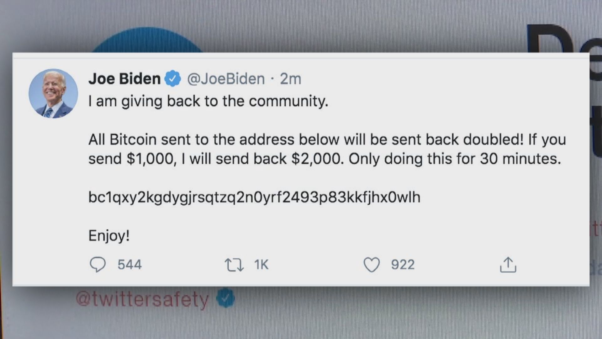 黑客大舉入侵Twitter詐騙比特幣
