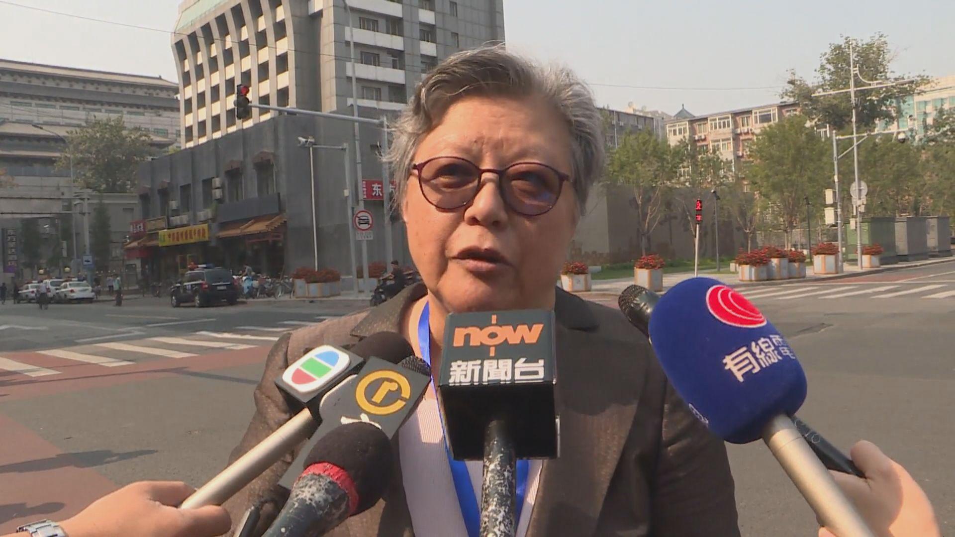 范徐麗泰:香港應自行處理現況非依靠其他人