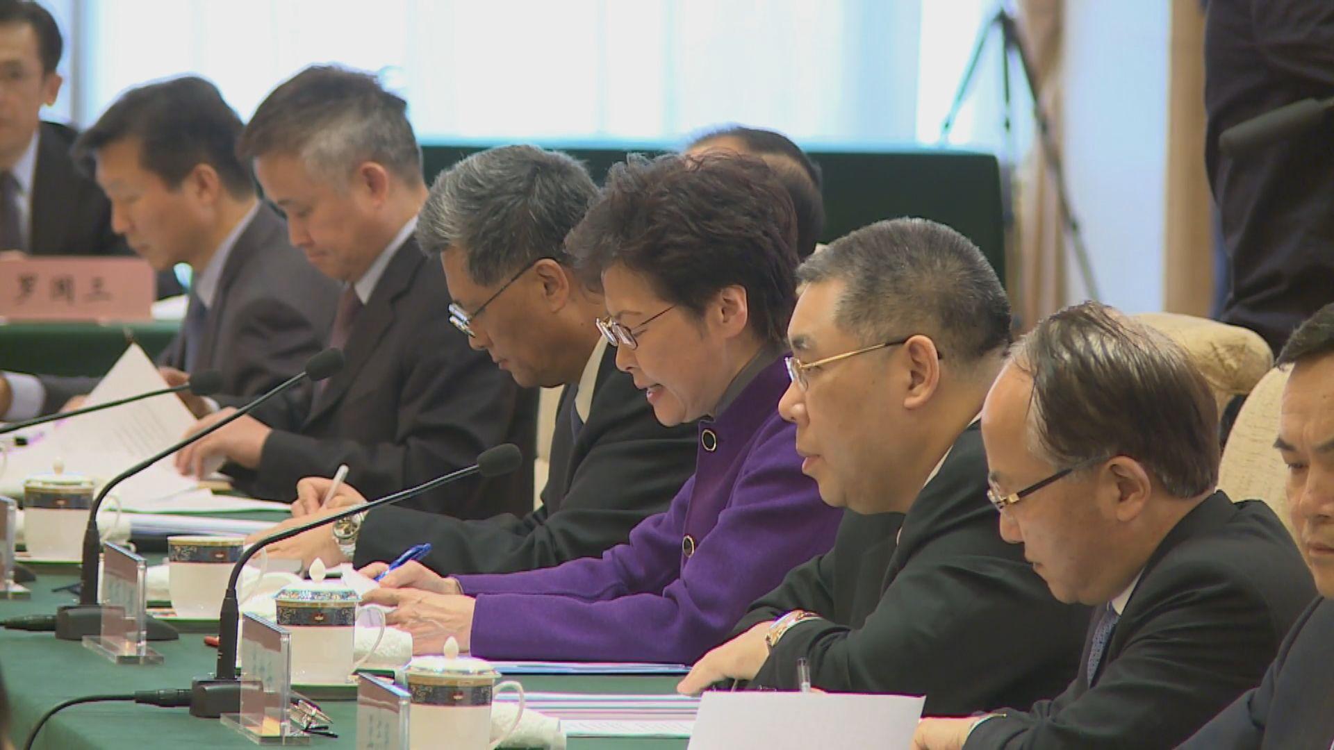 林鄭:香港示威衝突不影響推動大灣區工作