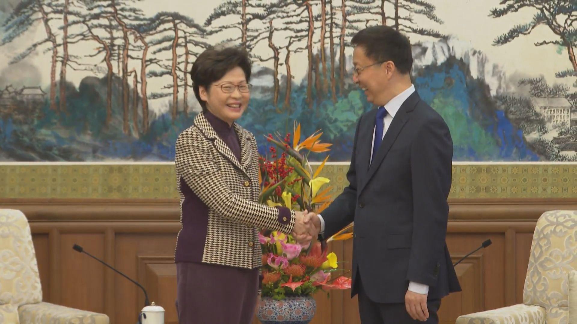 韓正:中央堅定支持行政長官及特區政府依法施政