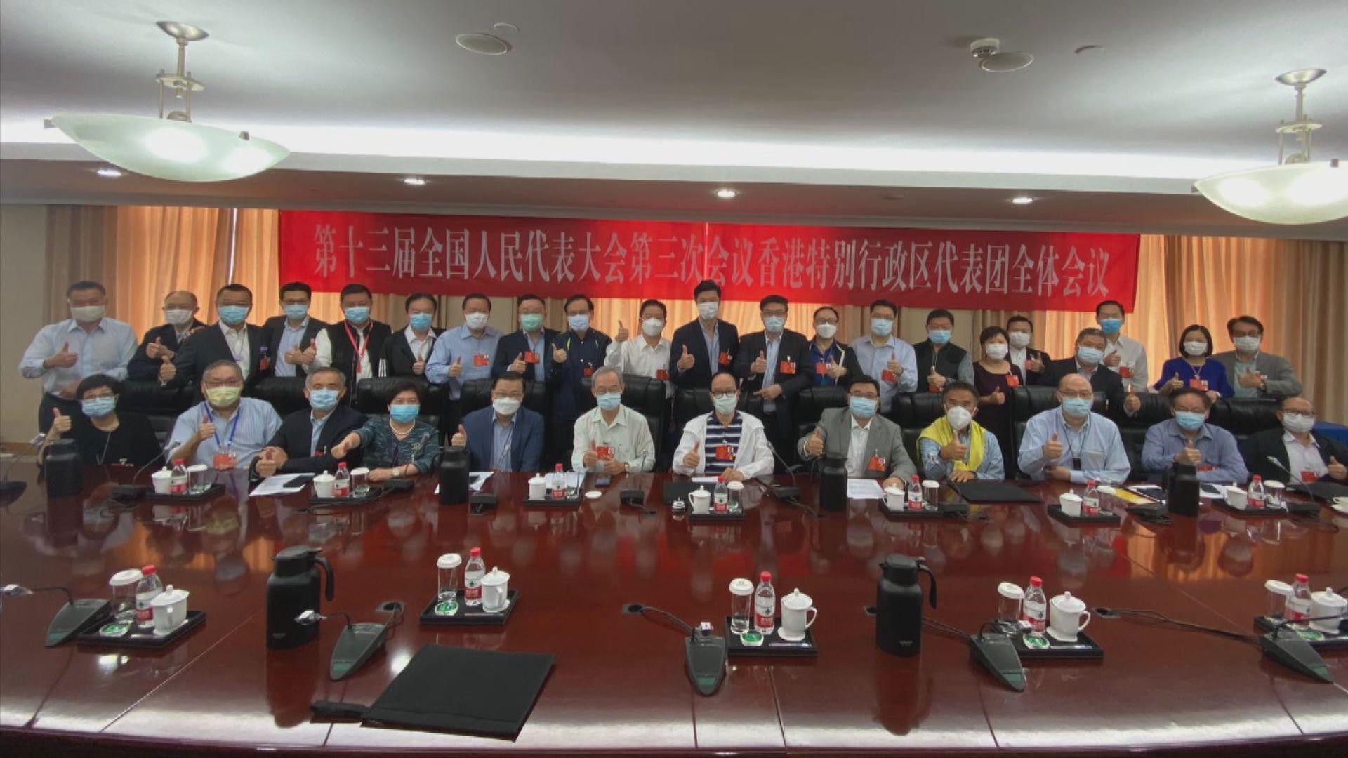 全國人大香港團下午選舉正副團長