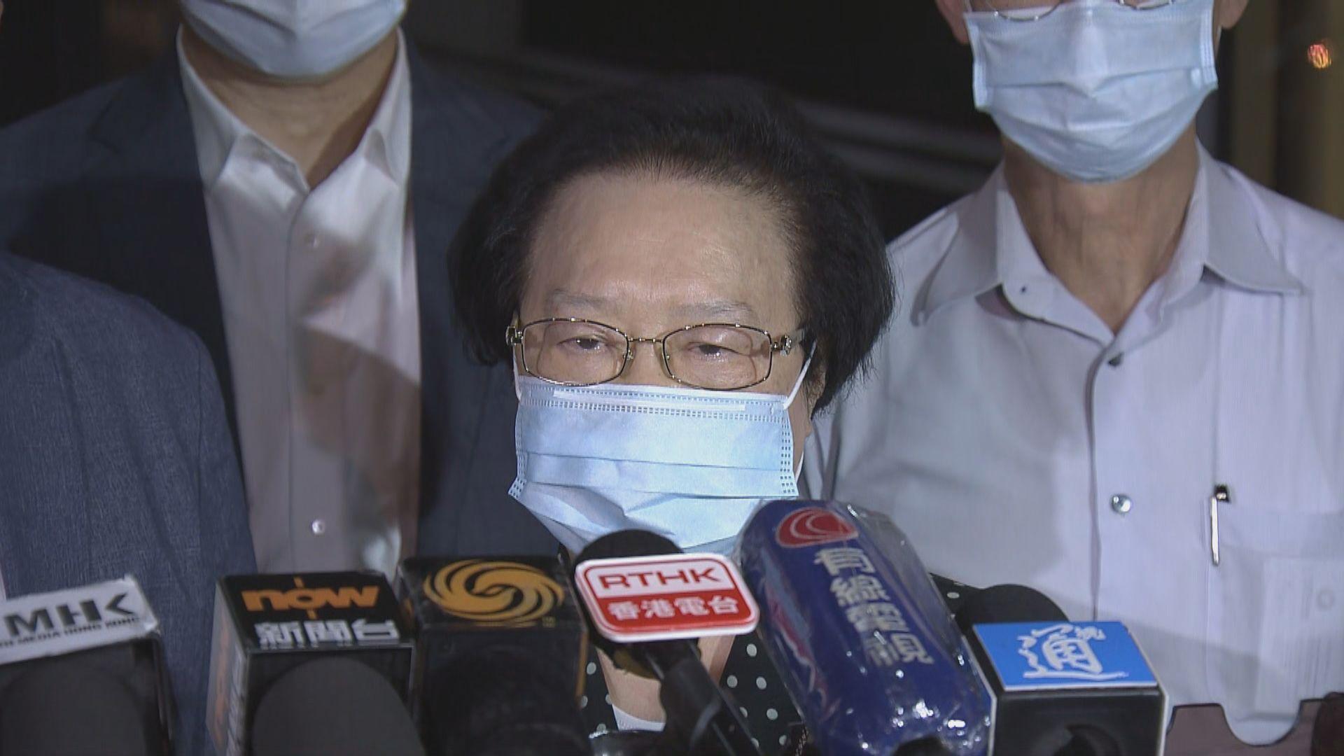 譚惠珠:立法會留任不少於一年好處是可按需要延長