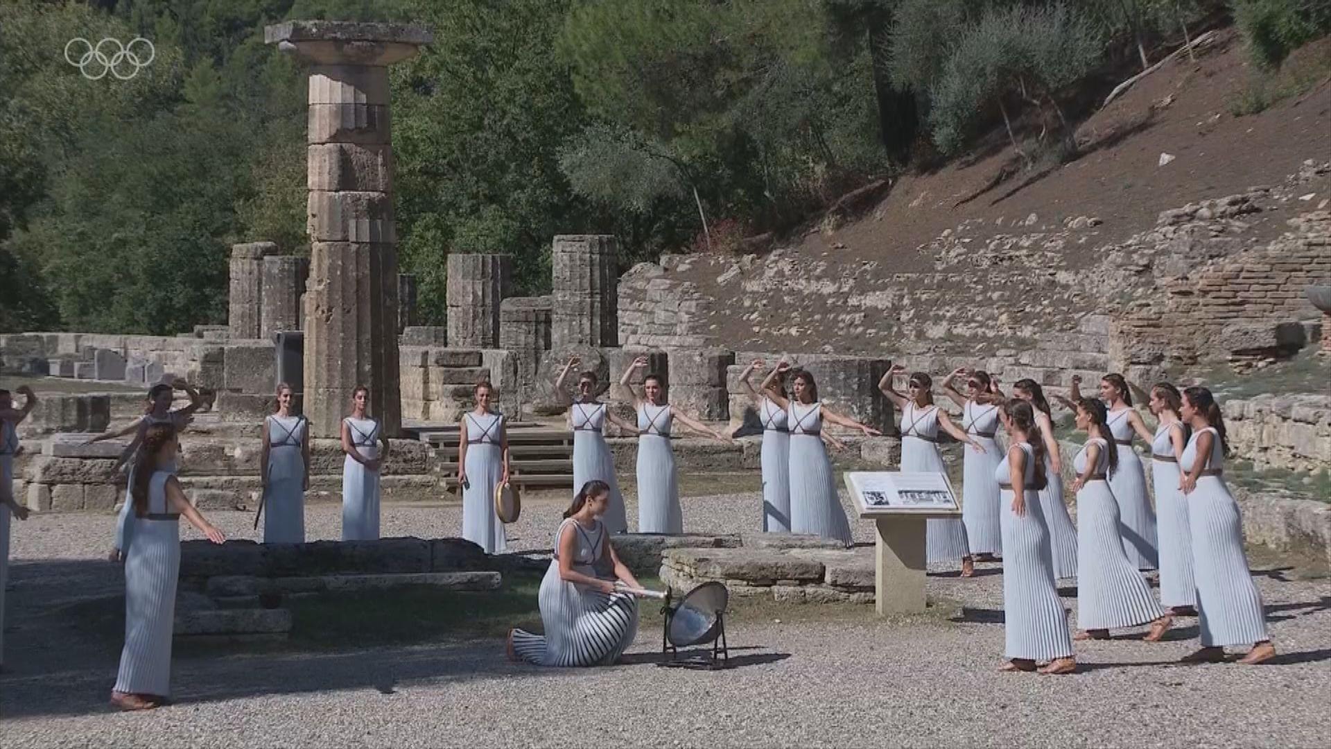 北京冬奧聖火採集儀式於希臘舉行