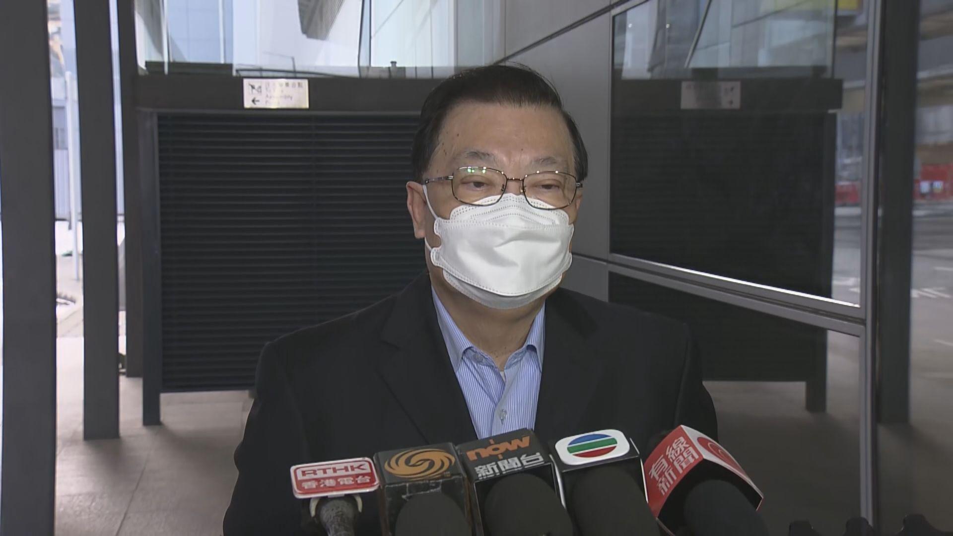 譚耀宗赴京出席人大常委會 指暫未有香港議程
