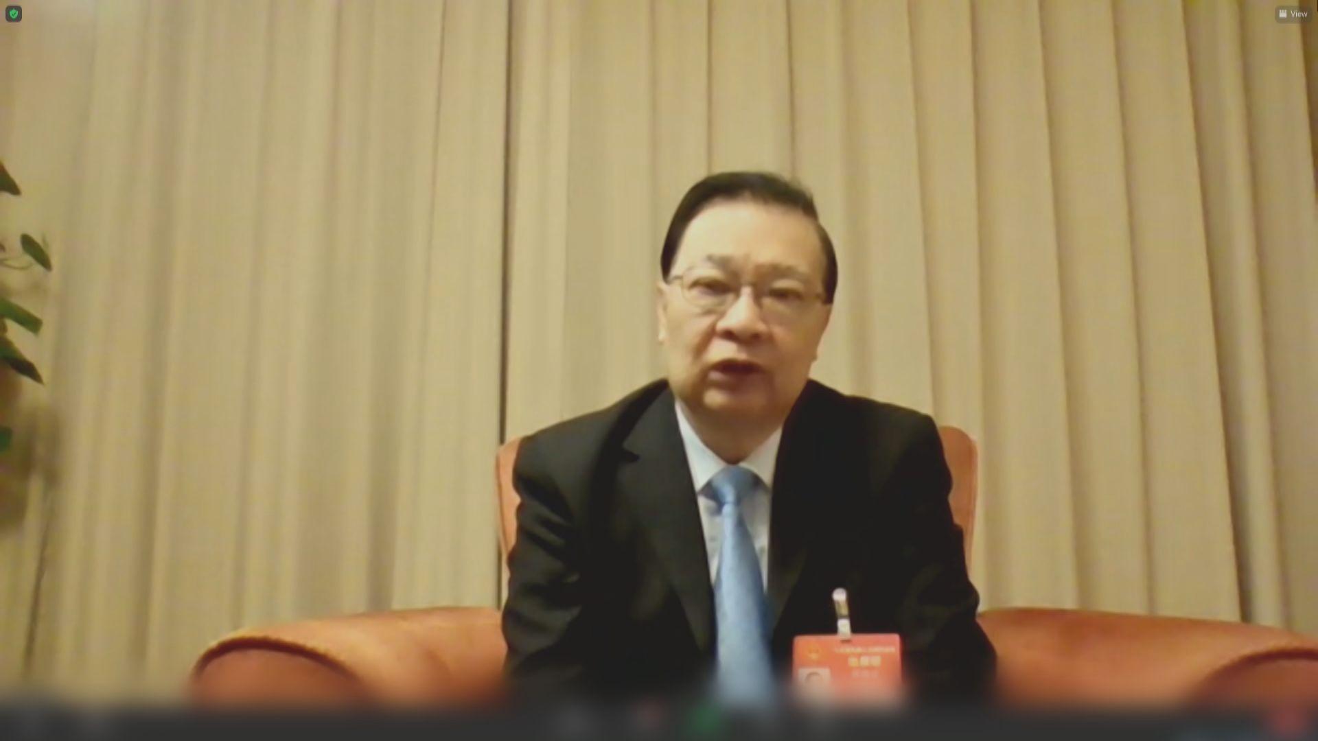 人大審議選舉制度草案 譚耀宗︰不涉具體方案