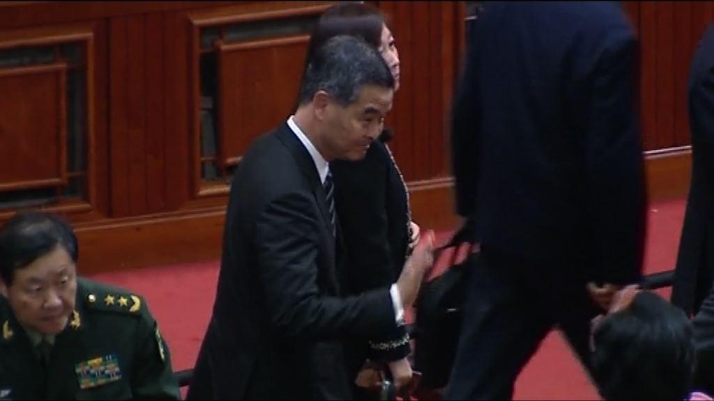 梁振英獲提名任政協副主席 下周一表決