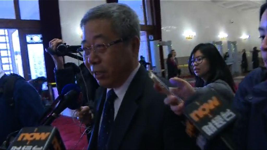 教育部長:本港中小學教授國歌寫入法例合適