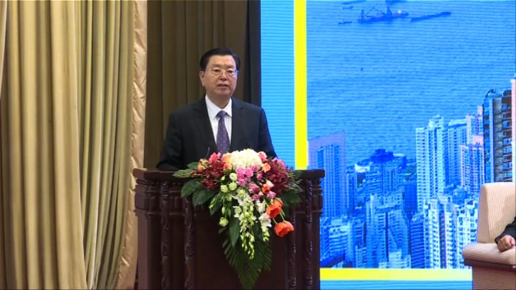張德江讚賞政府推動和參與一帶一路