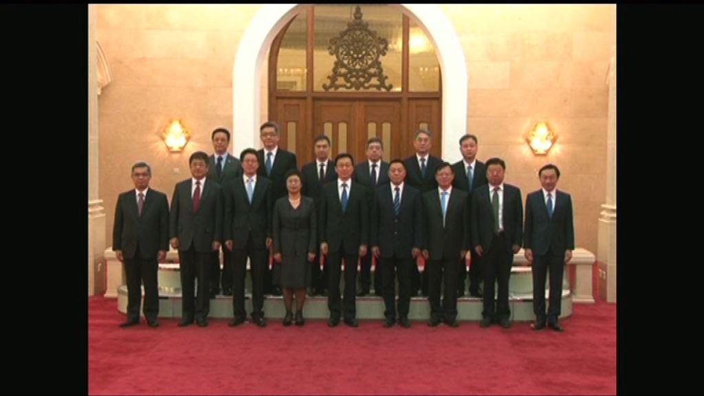 韓正接見澳門政府官員 指充分肯定政府工作