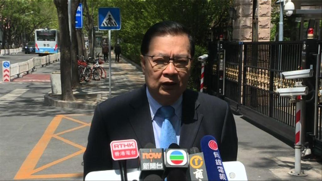 譚耀宗:立會參選資格交由選舉主任決定