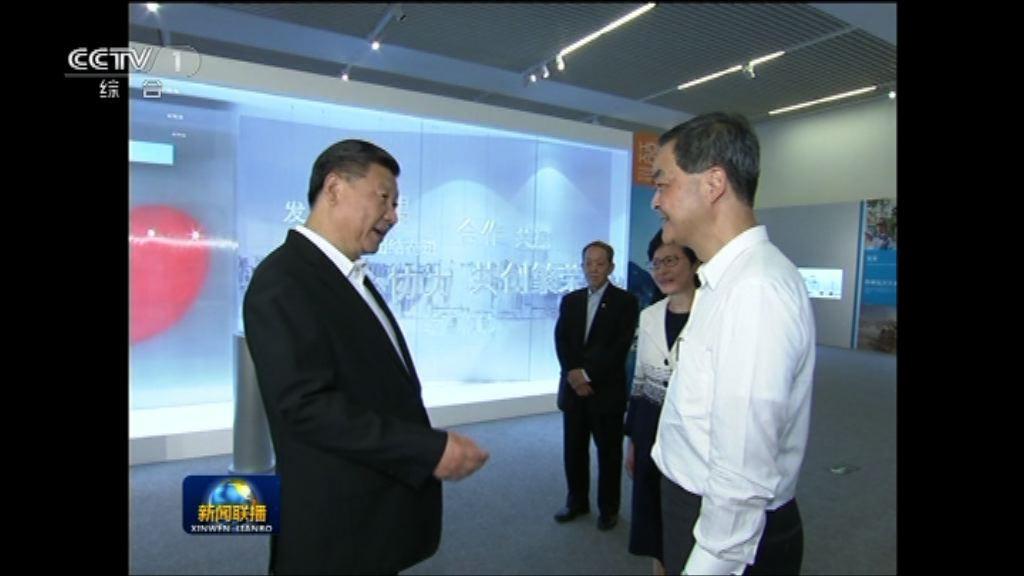 習近平強調香港在祖國支持下取得成就