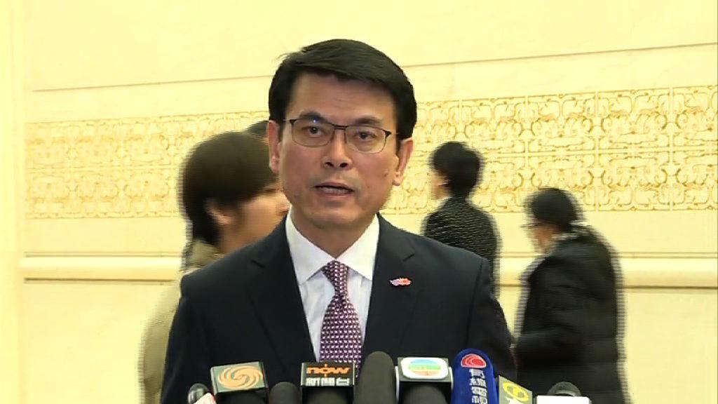 邱騰華稱香港內地合作是康莊大道