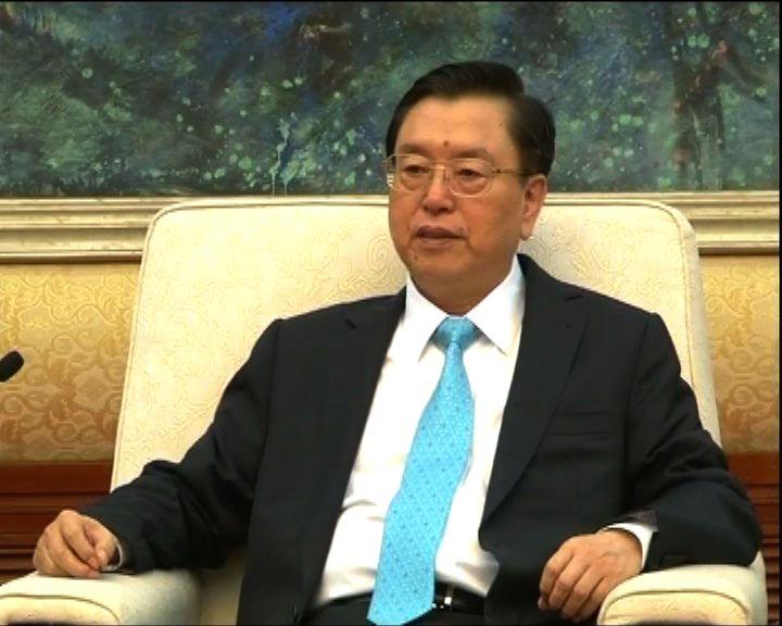 張德江:人大決定獲香港支持