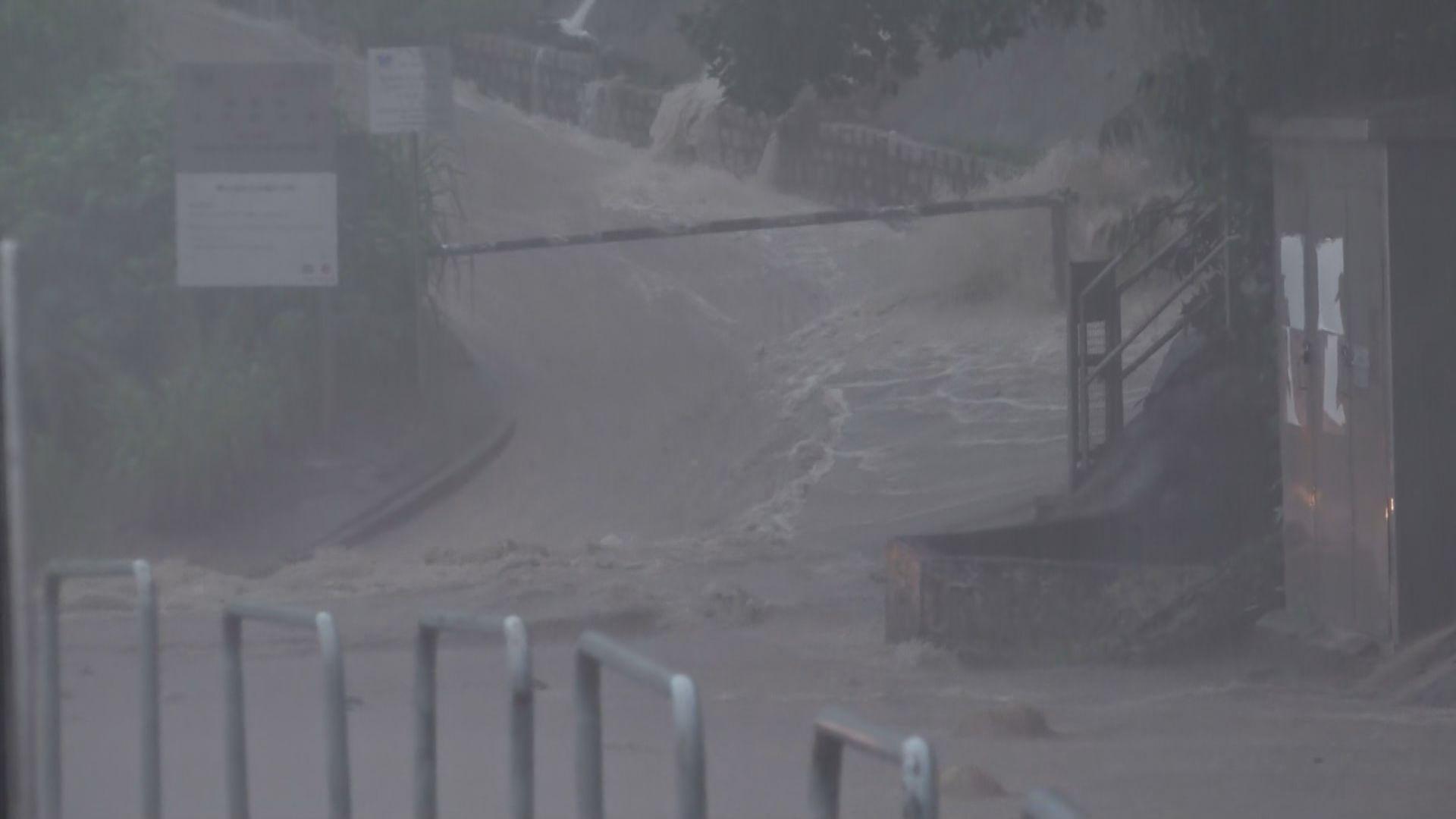 天文台發黑色暴雨警告信號 港島摩星嶺徑出現山泥傾瀉