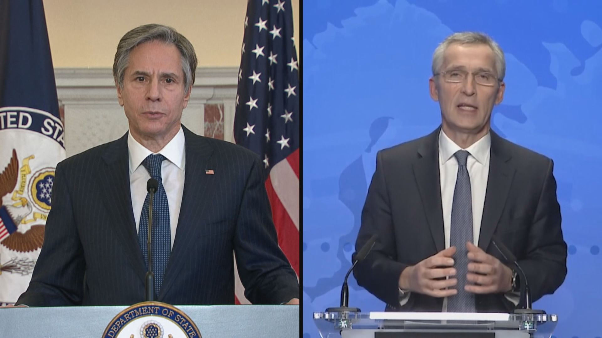 布林肯與北約秘書長討論烏東緊張局勢