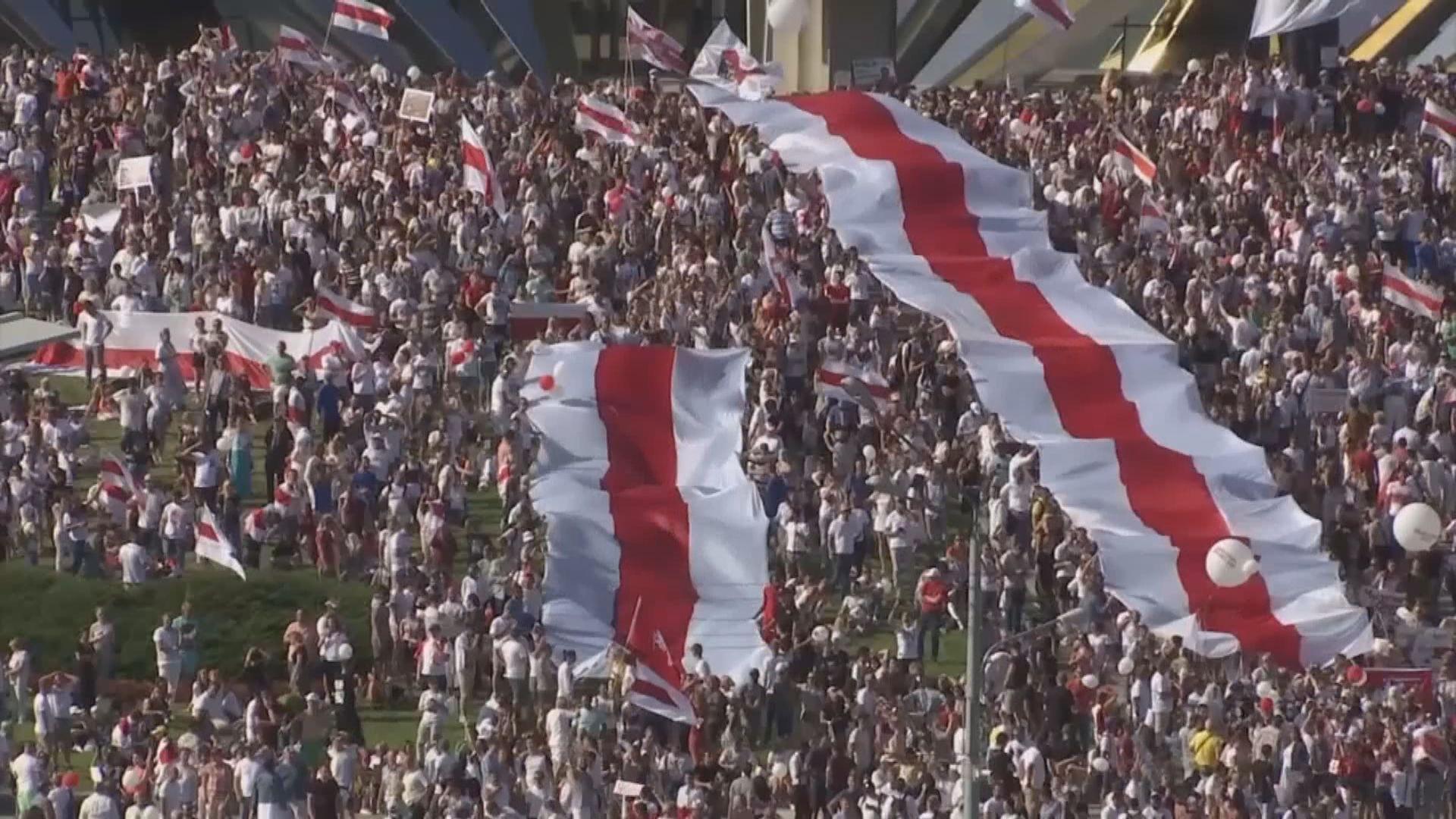 白俄羅斯再有大型示威要求總統盧卡申科下台