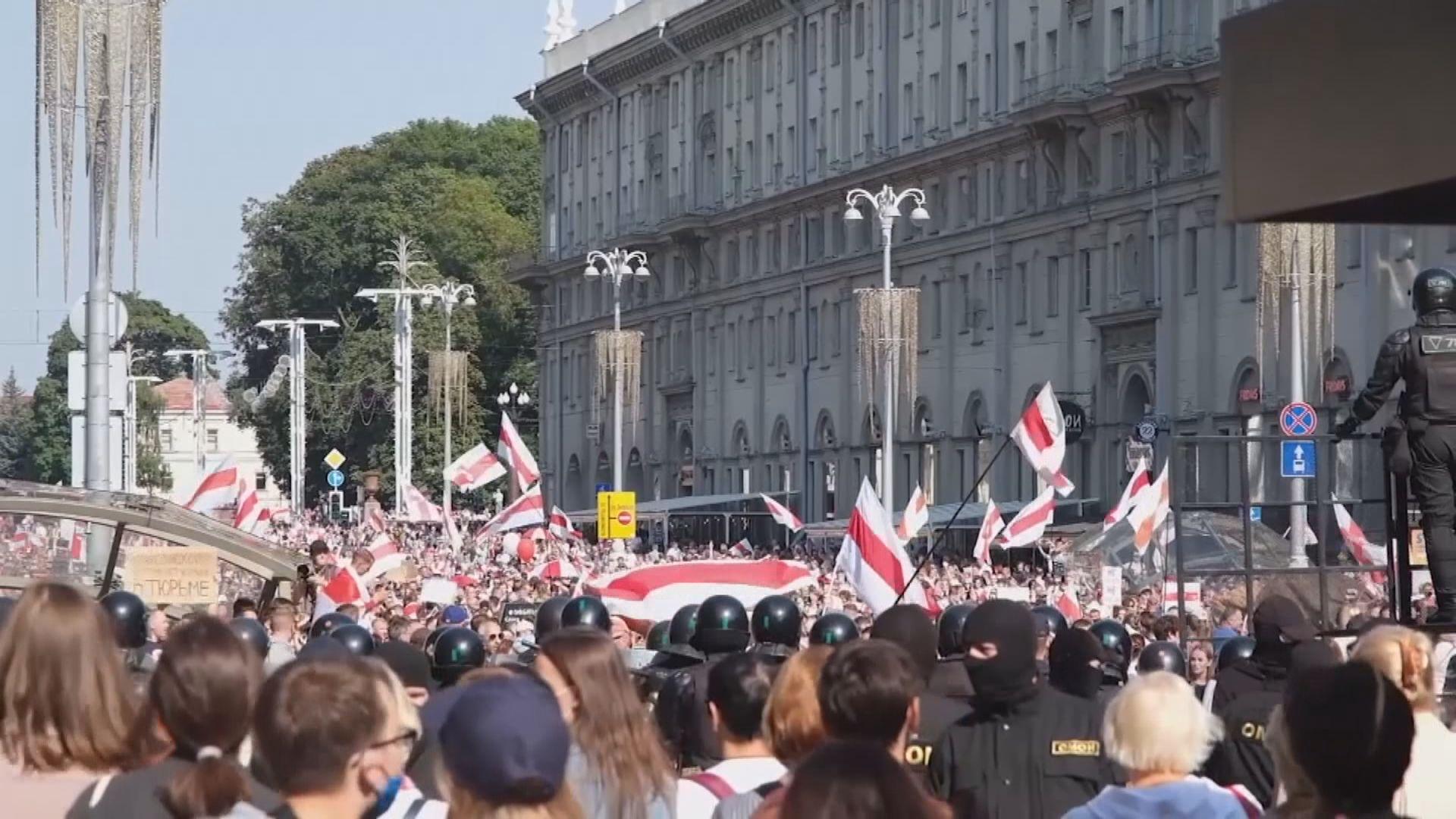 白俄羅斯反政府示威持續 法國瑞典批當局撤銷傳媒記者證