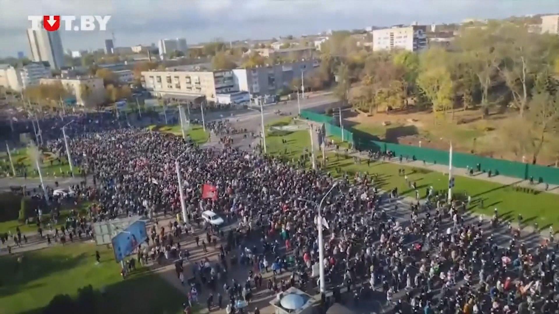 白俄羅斯連續十一個周末有反政府示威