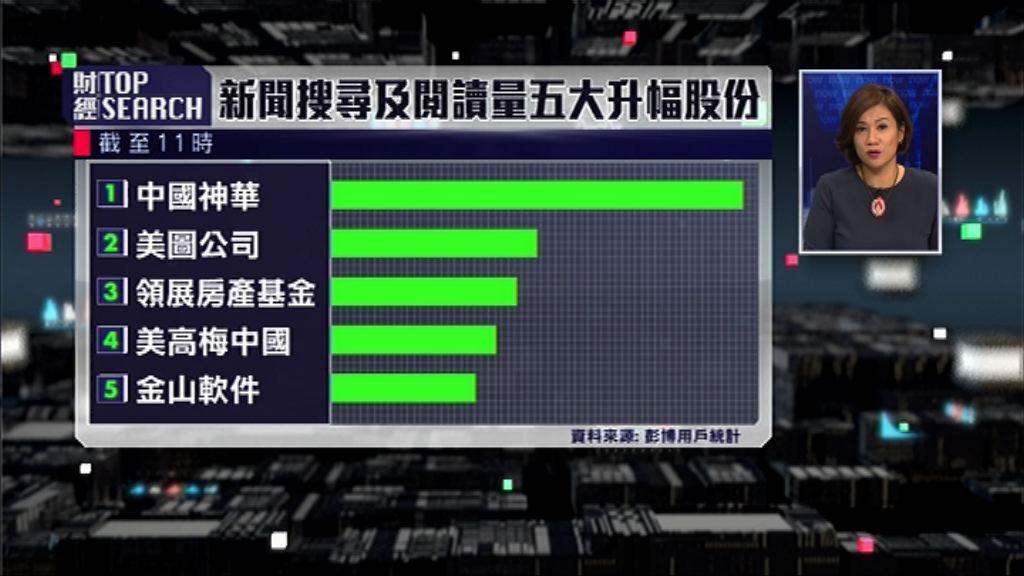 【財經TOP SEARCH】侵侵訪華神華有「大茶飯」食?