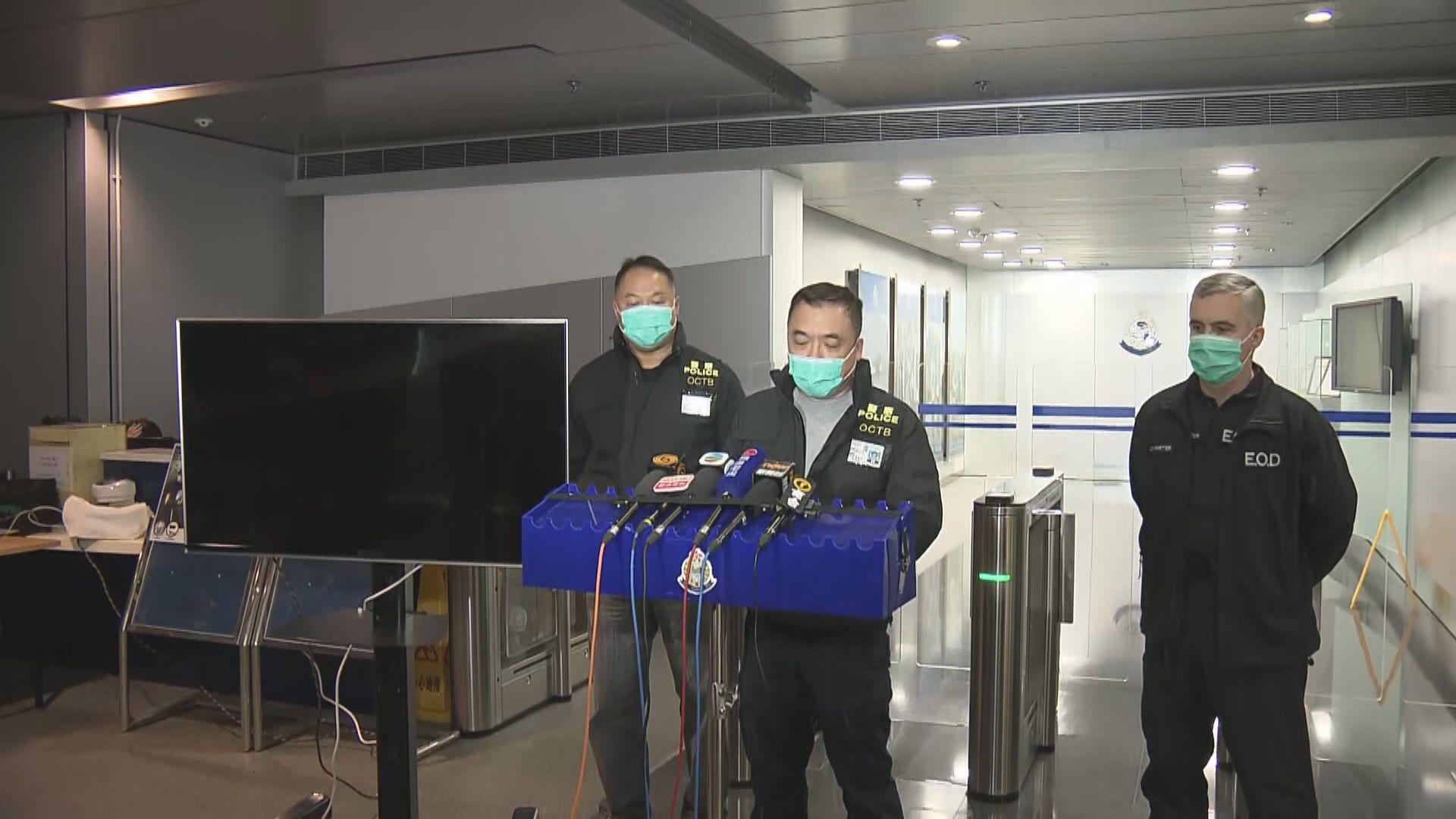 警方指三宗案件發現的爆炸品破壞力大