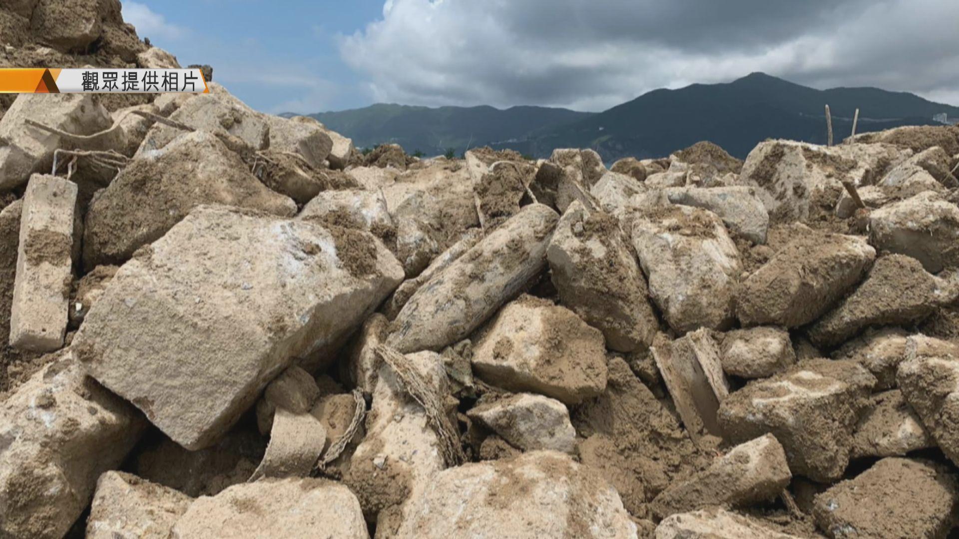 將軍澳堆填區發現懷疑戰時炸彈