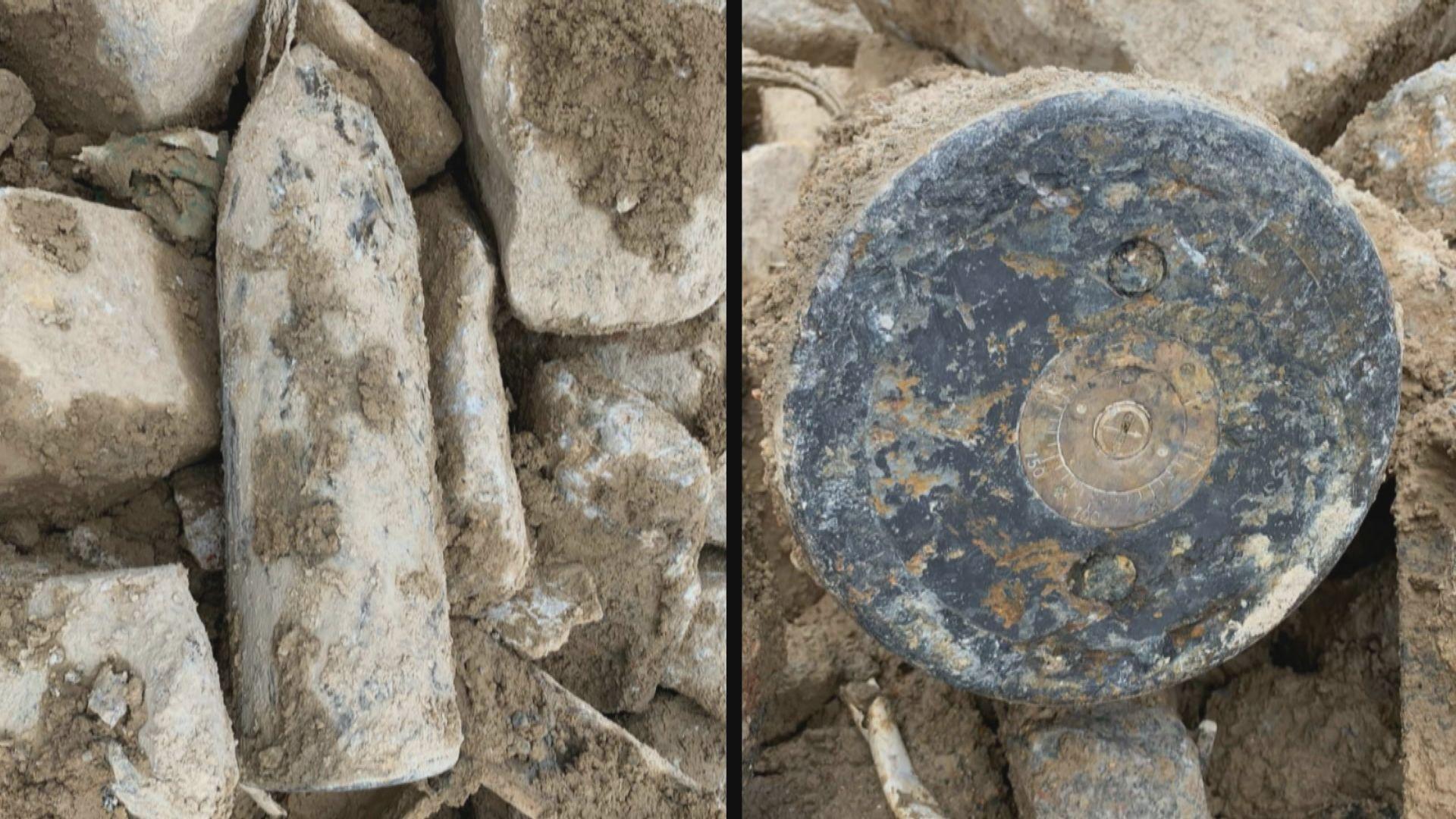 將軍澳堆填區發現懷疑戰時炸彈 爆炸品處理課專家到場檢查