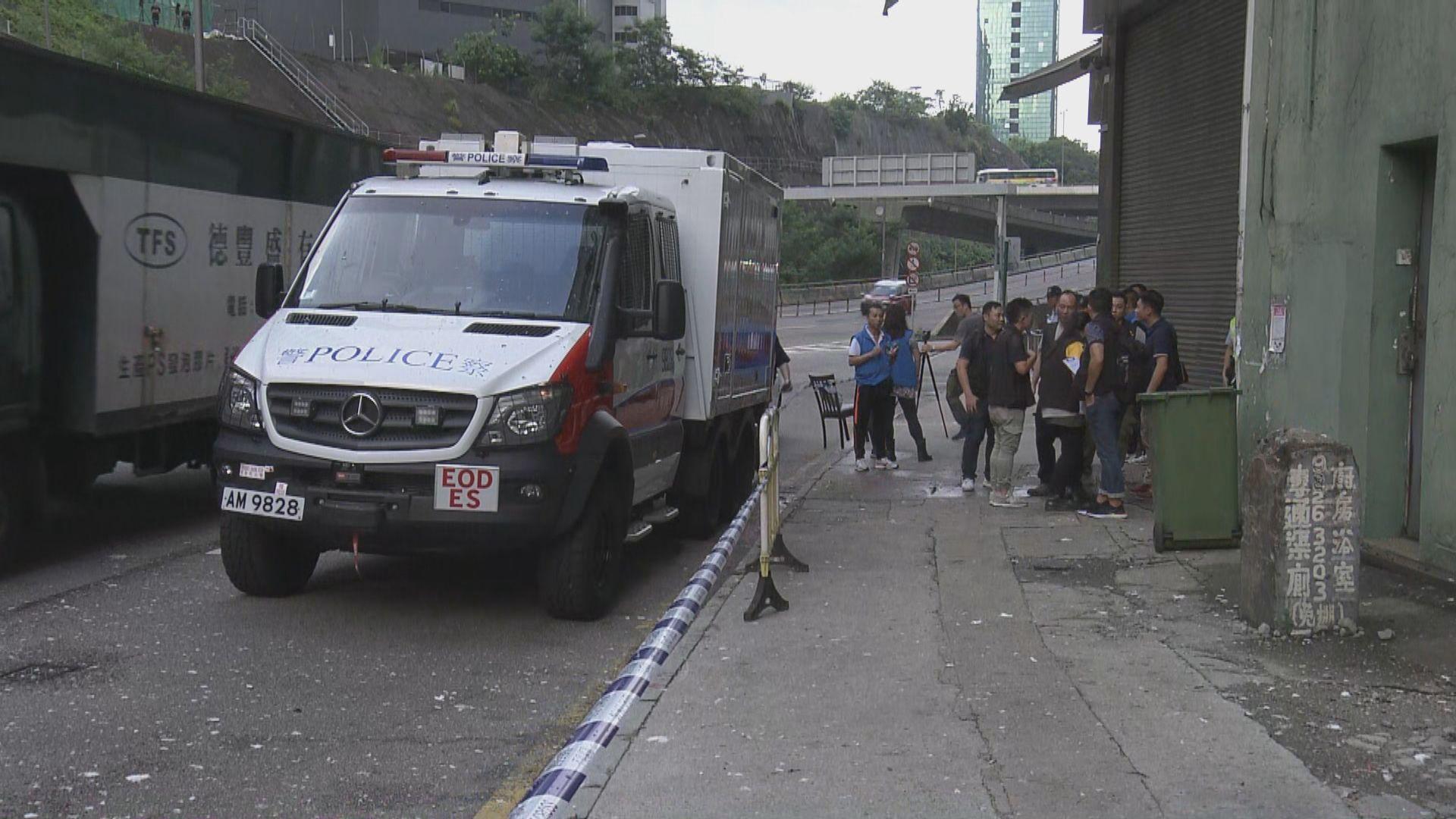 荃灣工廈單位檢獲懷疑爆炸品需引爆