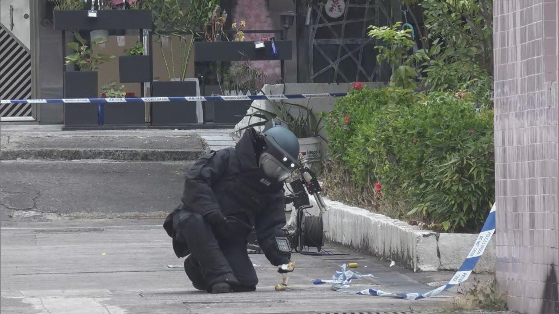 青衣大王下村發現可疑物品 警方派爆炸品處理課到場